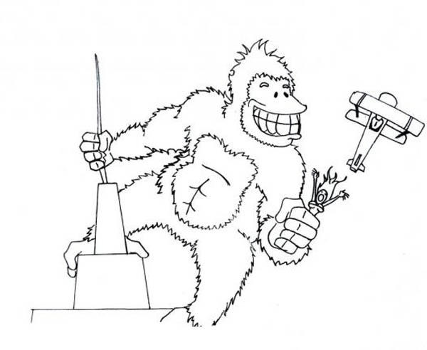 King Kong Big Grin Coloring Pages