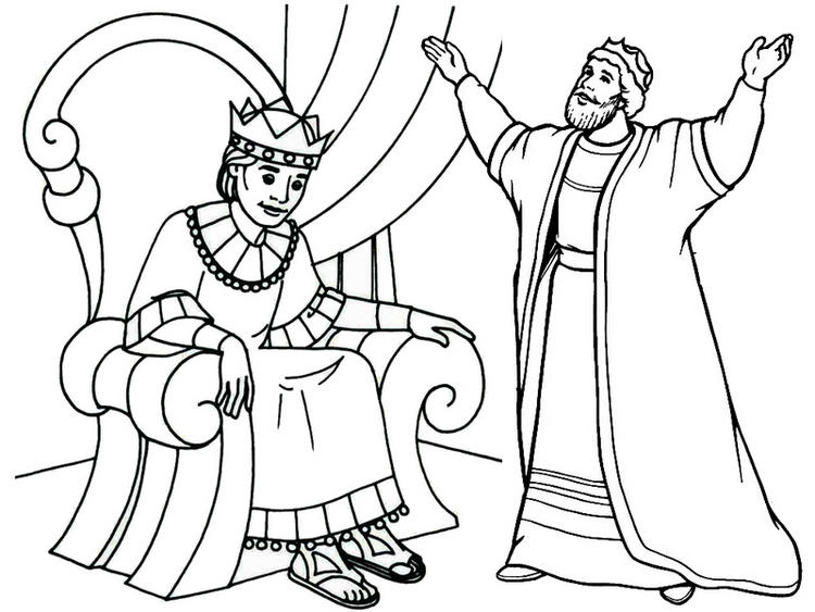 King Meeting Coloring Page