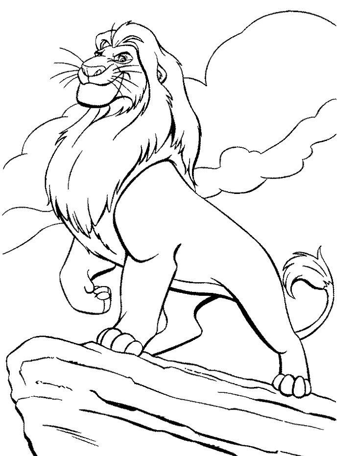 King Mufasa Coloring Pages For Kids Lion King