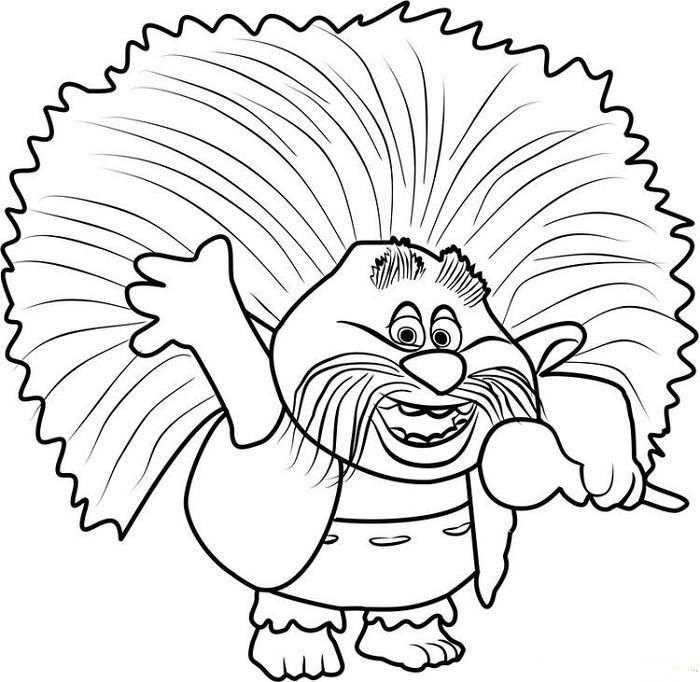 King Pepy From Trolls Coloring Pages