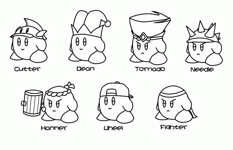 Kirby Coloring Pages All Forms