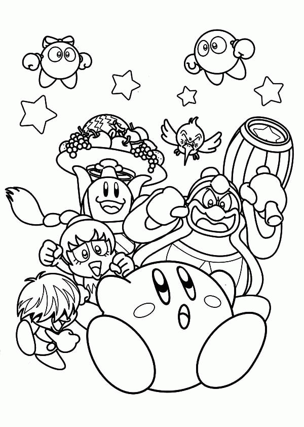 Kirby Coloring Pages And Friends