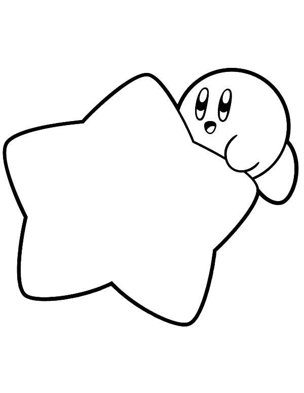 Kirby Coloring Pages With A Star