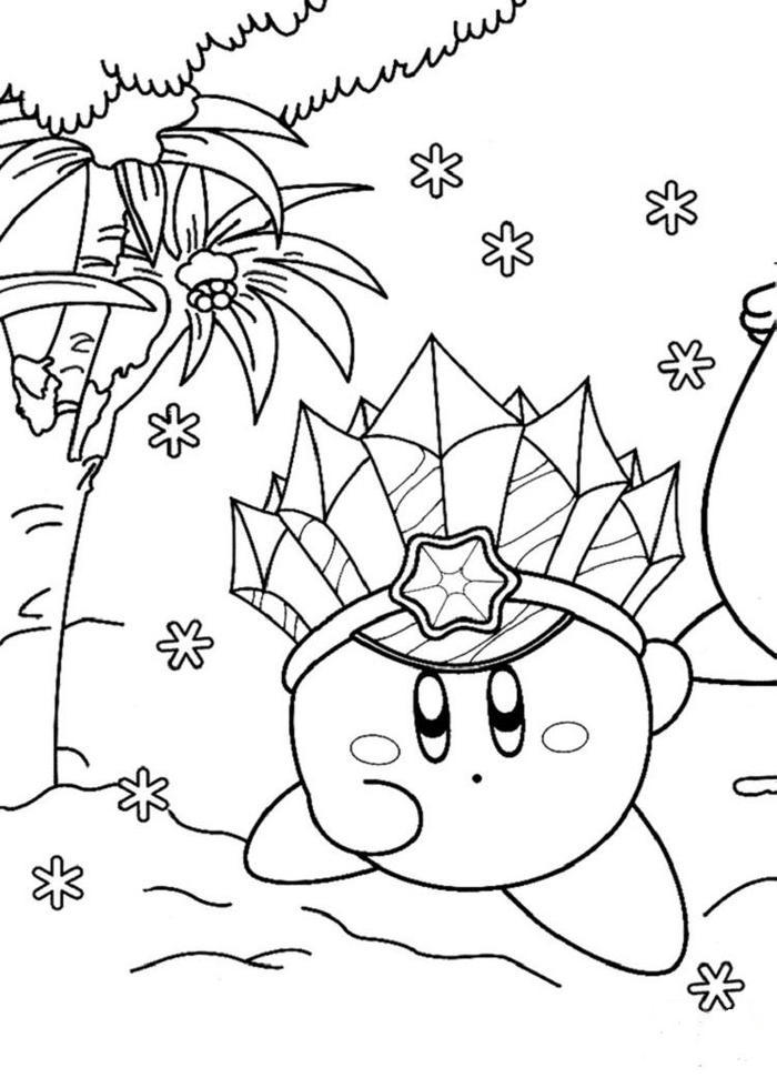 Kirby Stone Coloring Pages