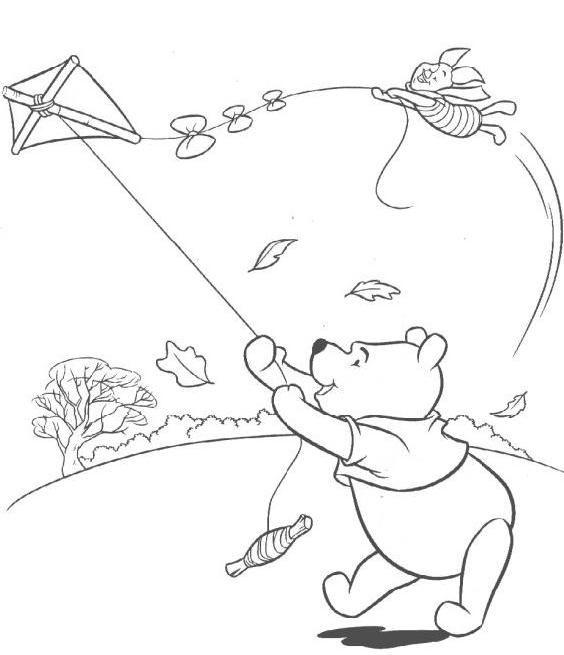 Kite Coloring Pages Winnie The Pooh