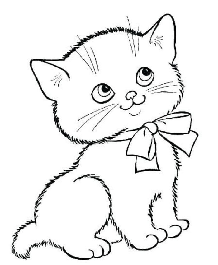 Kitten Coloring Pages For Kids Ideasrhdoghousemusic: Coloring Pages Kitten At Baymontmadison.com