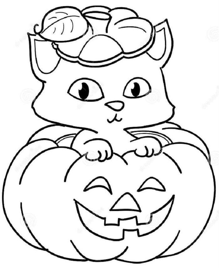 Kitten Coloring Pages Halloween