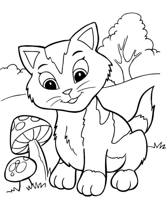 Kitten Coloring Pages Pdf