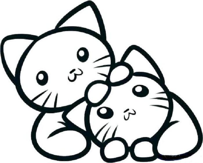 Kittens Art Coloring Pages