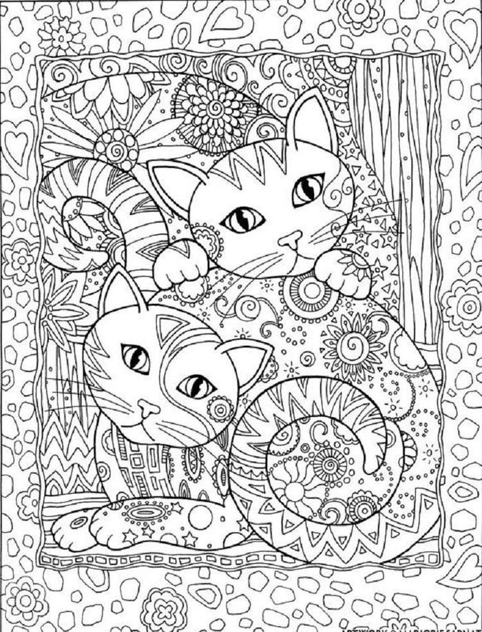 Kittens Coloring Pages For Adults
