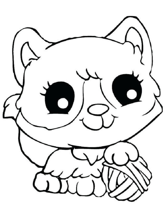 Kittens Coloring Pages For Kids