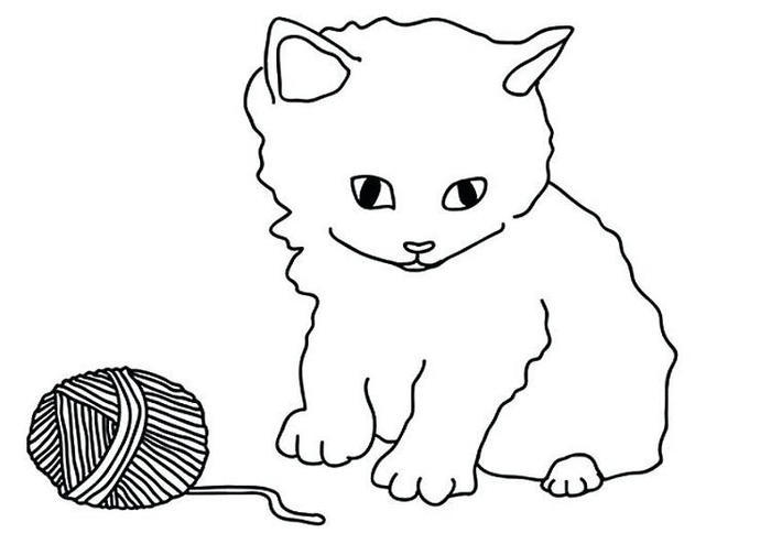 Kittens Coloring Pages For Preschoolers