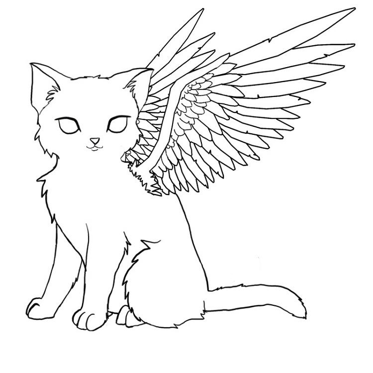 Kittens With Wings Coloring Pages