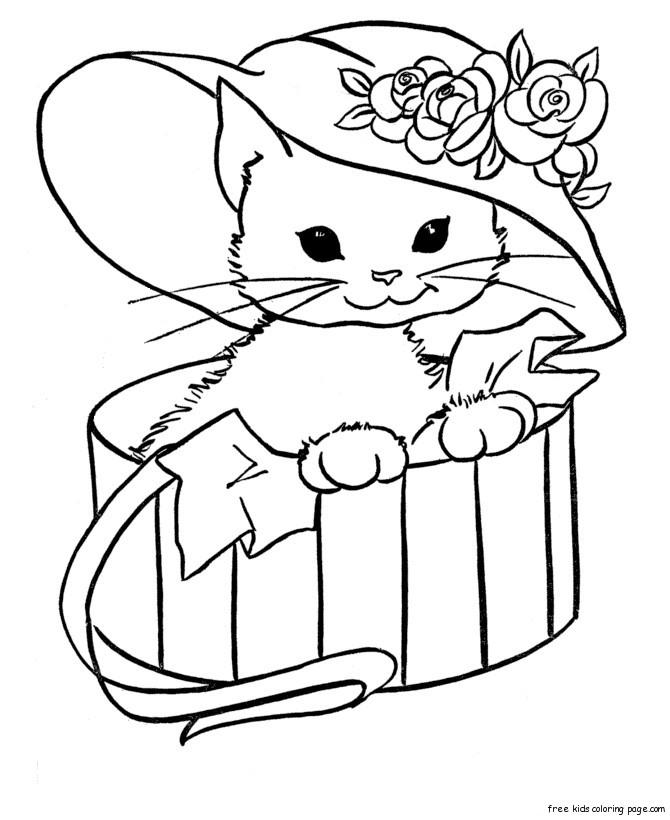 Kitty Cat Free Printable Coloring Pages Animals