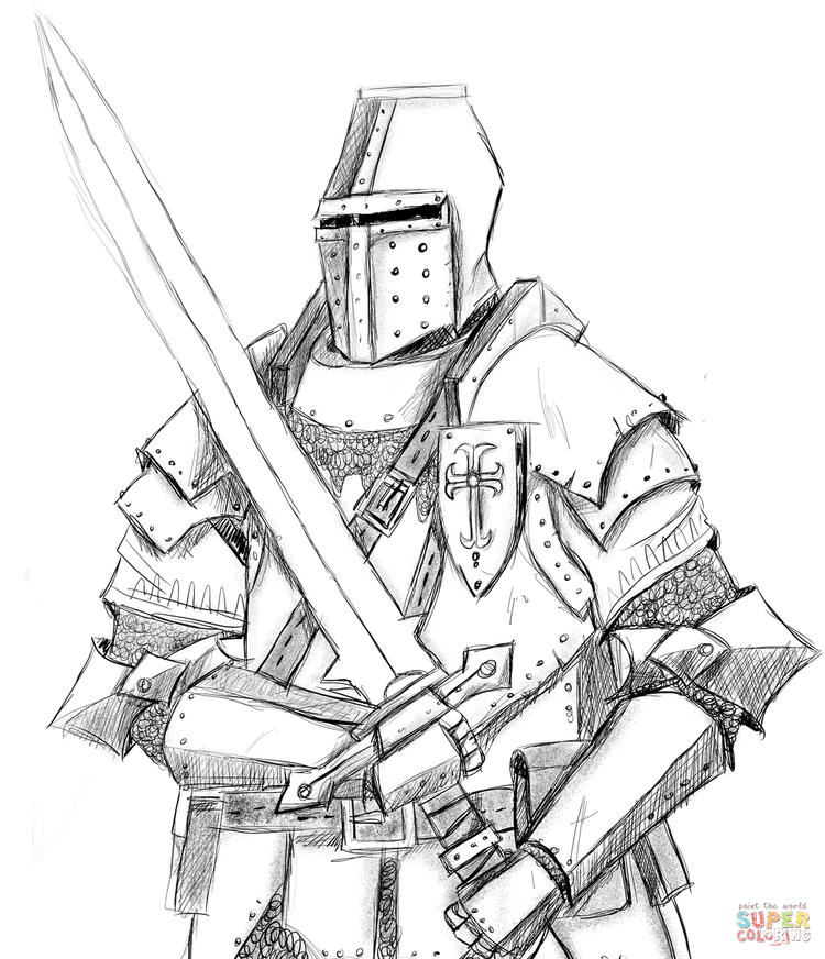 Knight Coloring Picture