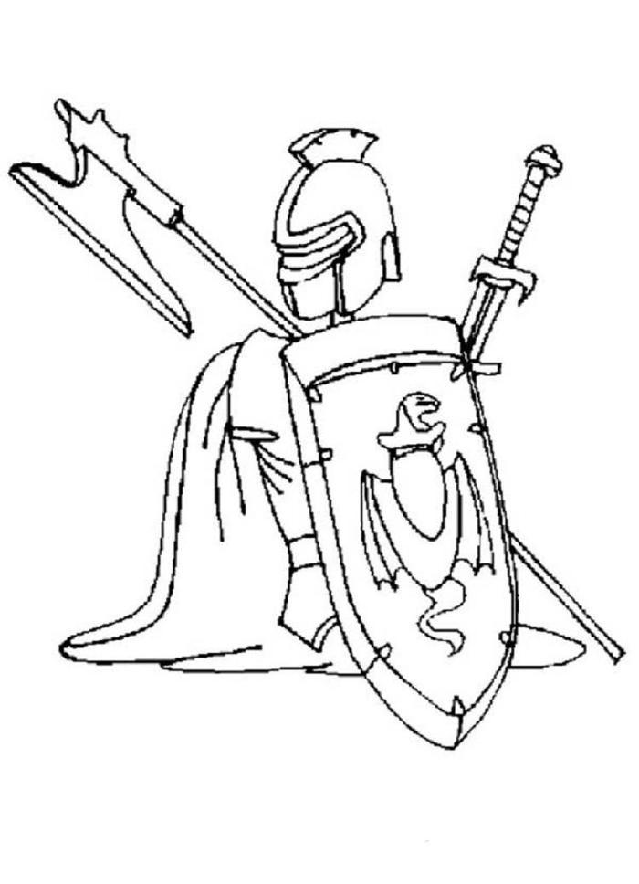 Knights Armours Coloring Pages