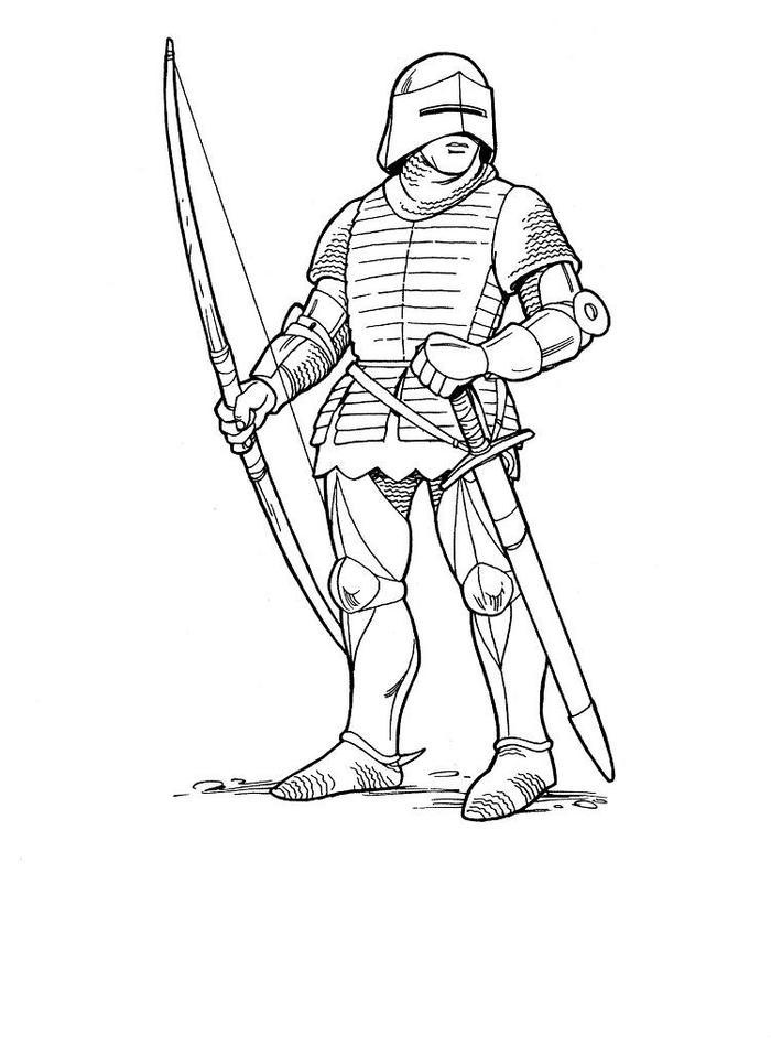Knights Coloring Pages Free