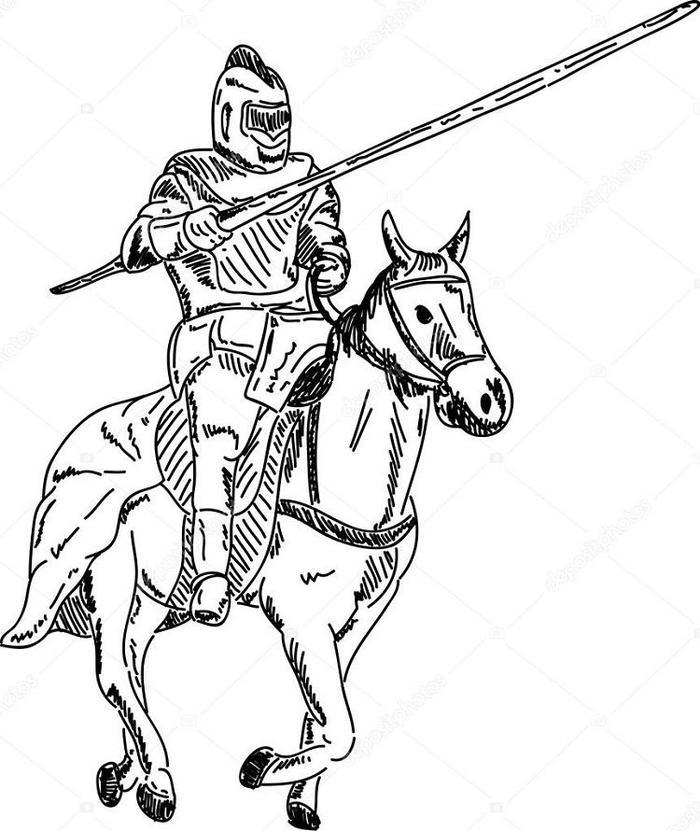 Knights Coloring Pages Online