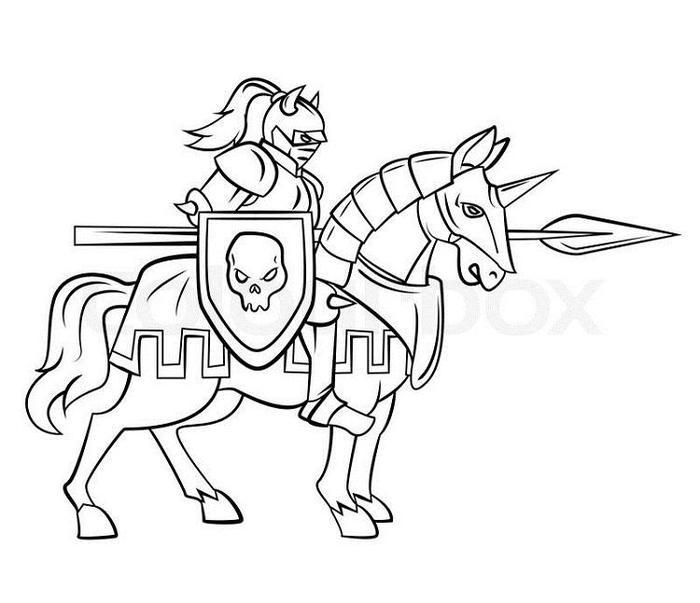 Knights Rider Coloring Pages
