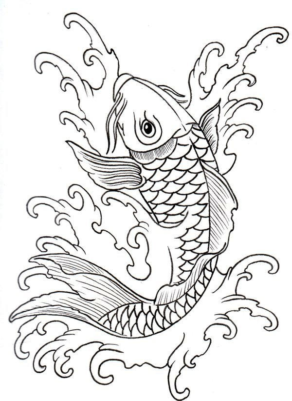 Koi Drawing Picture
