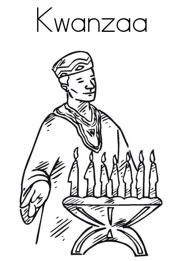 Kwanzaa African People Coloring Page