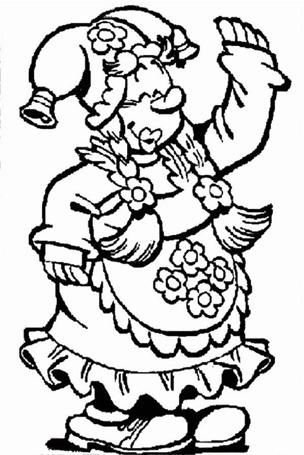 Kwebbel Dressing Up For Party In Plop The Gnome Coloring Pages