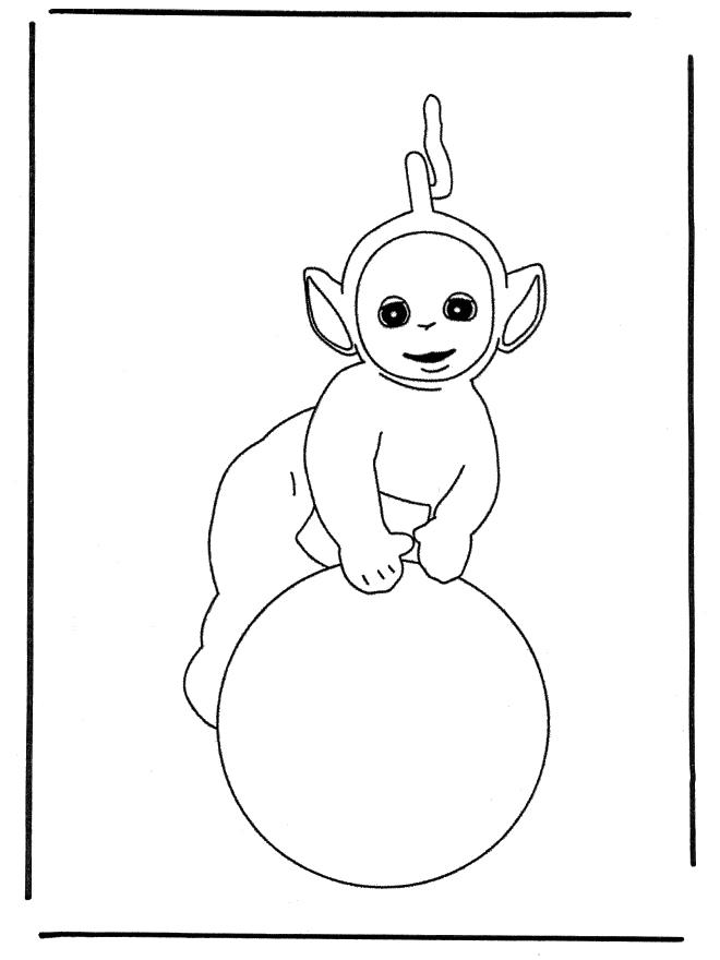 Laa Laa Coloring Pages Teletubbies