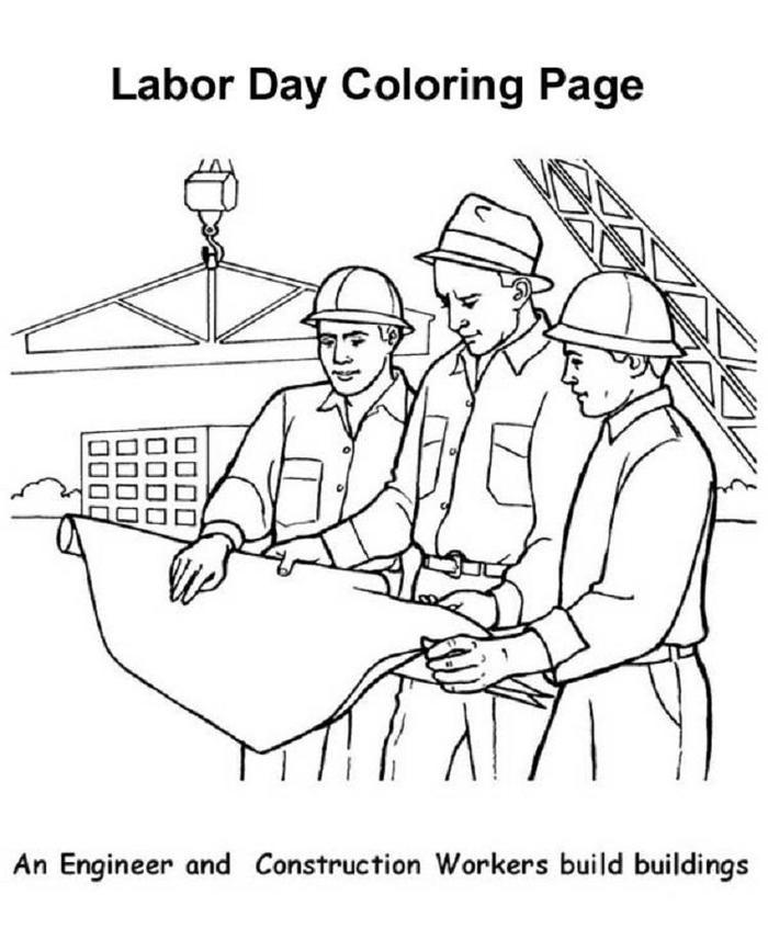 Labor Day Coloring Pages Engineer