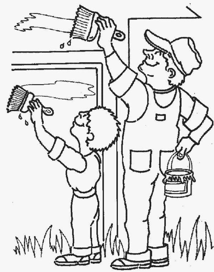 Labor Day Coloring Pages Painter