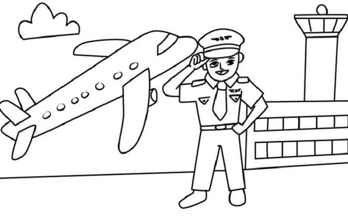 Labor Day Coloring Pages Pilot