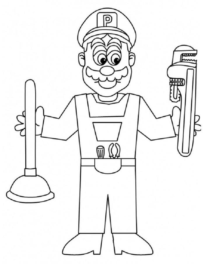 Labor Day Coloring Pages Plumber
