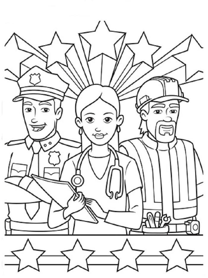 Labor Day Occupations Coloring Pages