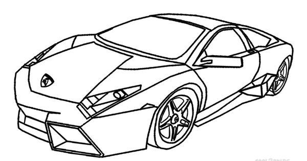 Lamborghini Aventador Coloring Pages Side View