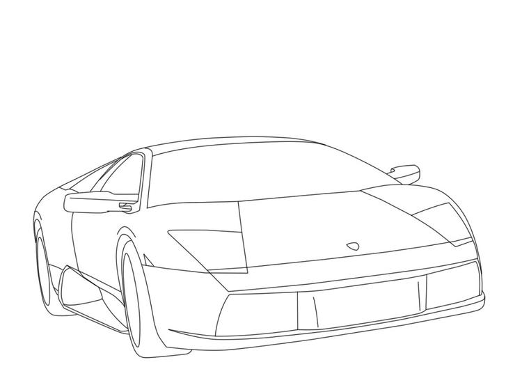 Lamborghini Coloring Pages For Kids