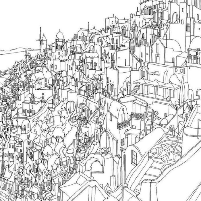 Landscape Coloring Pages For Adults Pdf