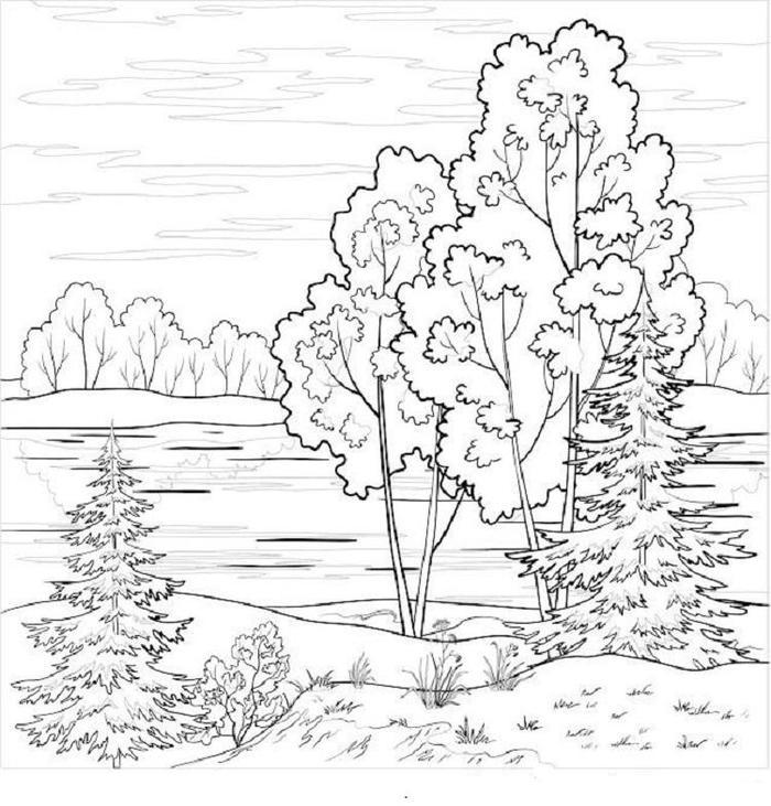 Landscape Coloring Pages To Print