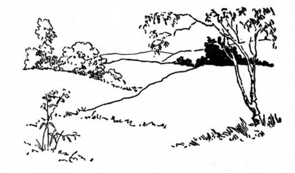 Landscapes Up On Hills Coloring Pages