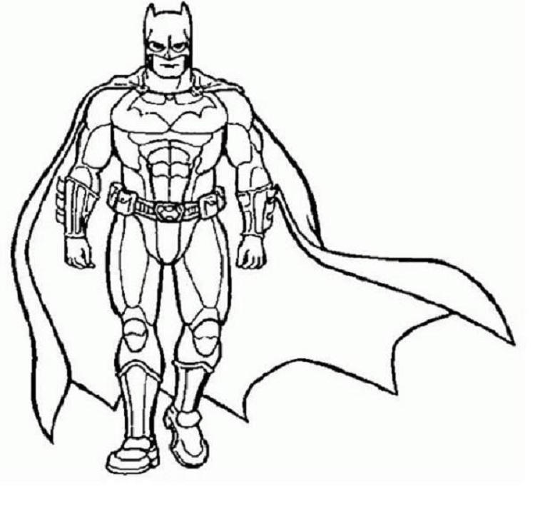 Large Superhero Coloring Pages