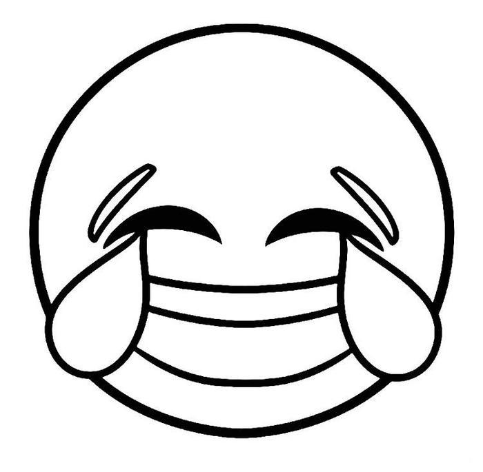 Laughing Emoji Coloring Pages