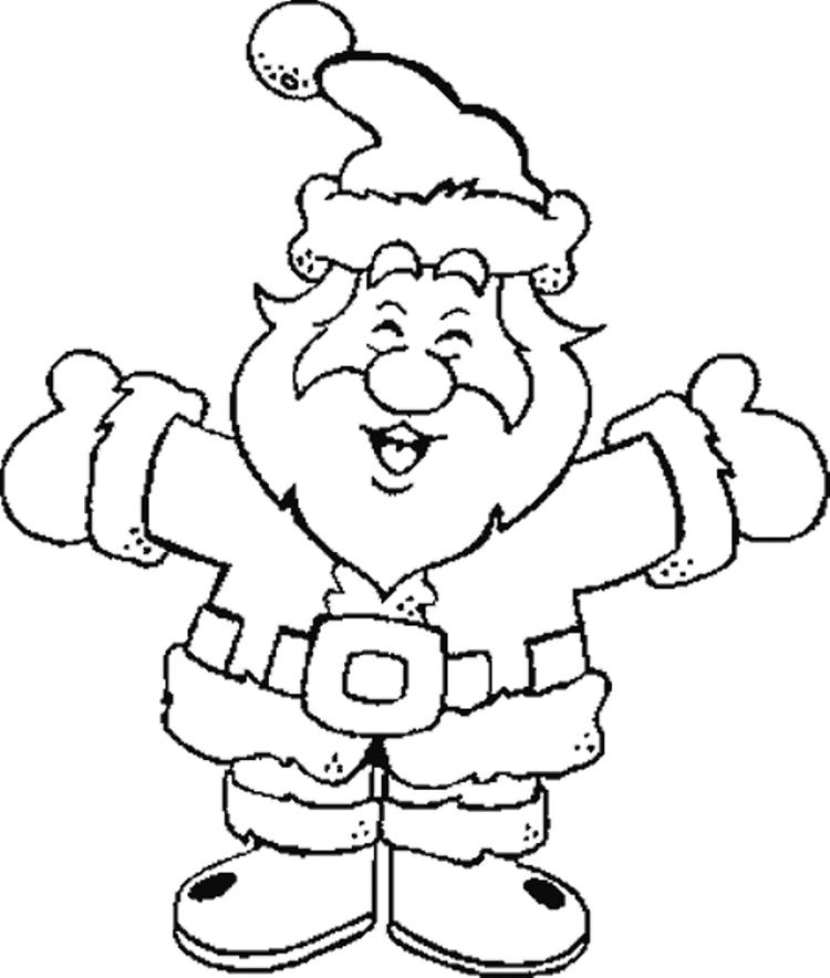 Laughing For Happiness Santa Claus Coloring Pages