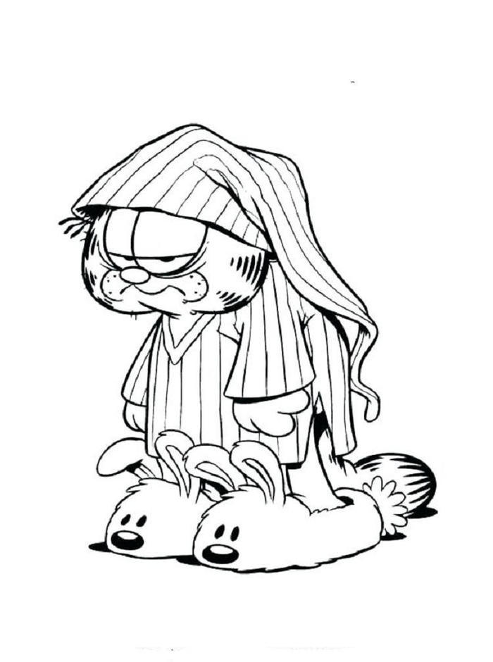 Lazy Garfield Coloring Pages