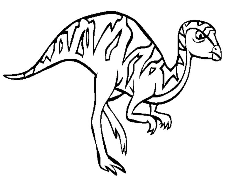 Leaellynasaura Dinosaur Coloring Pages