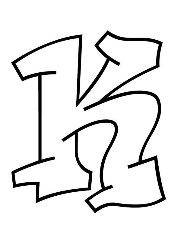 Learn Abc For Letter K Coloring Page