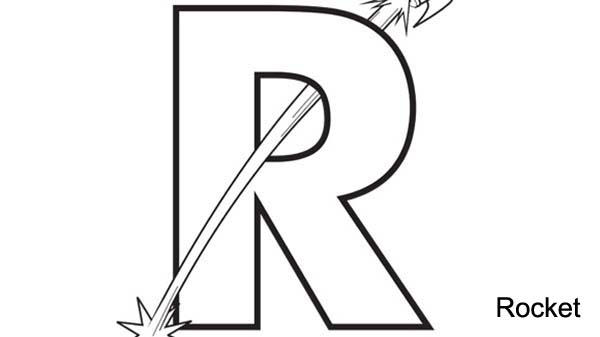 Learn Big Letter R Coloring Page