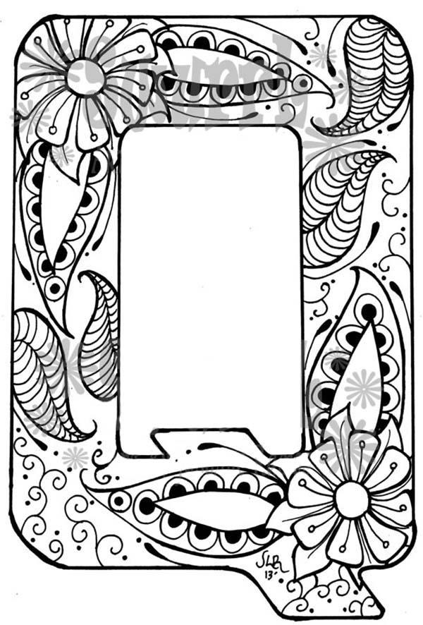 Learn Letter Q For Preschool Kids Coloring Page