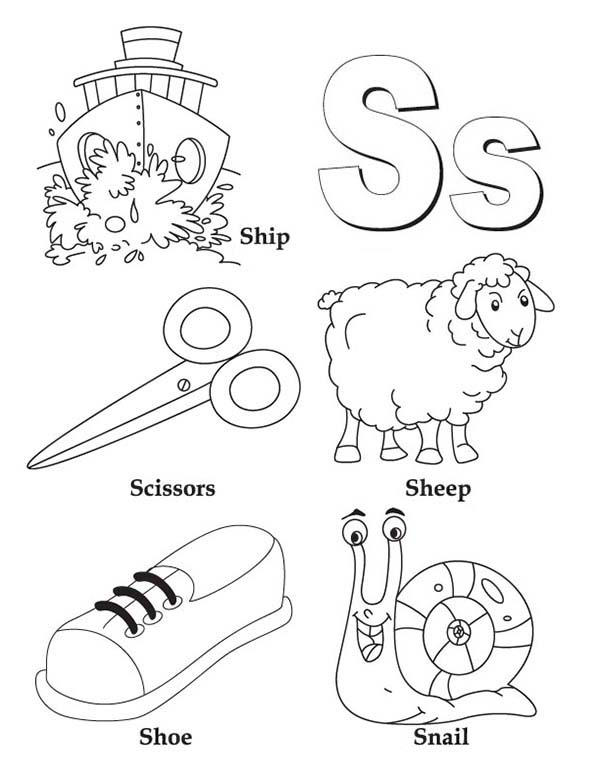 Learn Upper And Lower Case Of Letter S Coloring Page