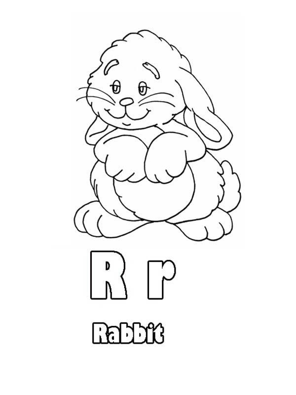 Learn Upper Case And Lower Case Letter R Coloring Page