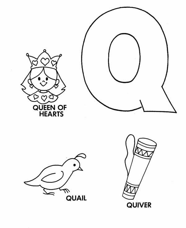 Learn Upper Case Letter Q Coloring Page