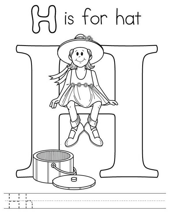 Learning Letter H Coloring Page