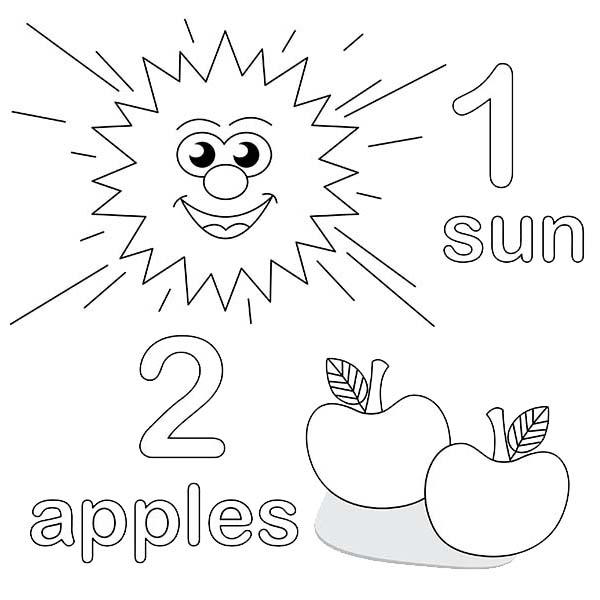 Learning Number 2 Coloring Page